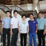 李昭玲主席和比利时傅旭海、荷兰陈龙、西班牙陈晓敏、葡萄牙单前迈合影.