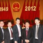 欧华青联代表参加国宴的有(左起)陈晓敏、叶献鑫、傅旭海、吴昊、朱旭林