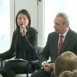 欧华青联副秘书长胡杰代表欧华青联在中欧语言论坛上发言
