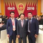 (左一)傅旭海会长、(中)北京市侨联主席荣洋、(右)吴晓旺常务副会长